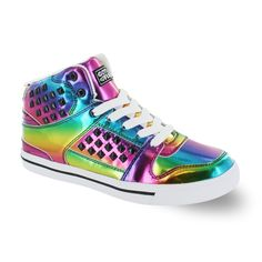 online shopping for Gotta Flurt Hip Hop HD II Lace Up Top High Top Sneaker from top store. See new offer for Gotta Flurt Hip Hop HD II Lace Up Top High Top Sneaker Studded Sneakers, High Top Sneakers, Women's Sneakers, Colorful Sneakers, Metallic Sneakers, Colorful Shoes, White Sneakers, Rave Shoes, Hip Hop Shoes
