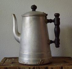 Vintage Coffee Pot 1950's  Aluminum Coffee Server by EadoVintage, $12.00