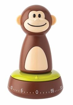 Joie Monkey Theme 60 Minute Cook Time Mechanical Kitchen / Egg Cooking Timer #Joie