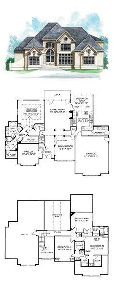 Greek Revival House Plan 72150 | Total Living Area: 3152 sq. ft., 4 bedrooms & 5.5 bathrooms. #greekrevival #houseplan