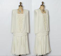 #vintage ivory dress by StopTheClock on Etsy