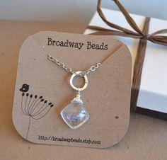 Custom Necklace Jewelry Display Cards Bird on Dandelion Flower Recycled Kraft Brown Paper 00098d. $20.00, via Etsy.