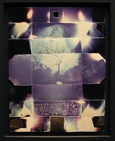 """Pinhole photograph made from a folded paper """"camera"""" by Thomas Hudson Reeve"""