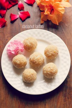 coconut ladoo recipe - quick and easy coconut ladoo recipe made with khoya or mawa #dessert #indian