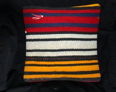 Vintage Turkish Handwoven Kilim Pillow Cover 16x16free by Cultere, $31.00