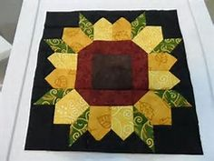 Image result for sunflower quilt block patterns