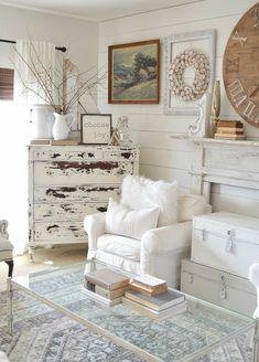 Shabby Chic Living Room, Shabby Chic Homes, Shabby Chic Decor, Living Room Furniture, Living Room Decor, Bedroom Decor, Rustic Furniture, Antique Furniture, Modern Furniture