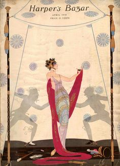 Erté - Illustration -  Harper's Bazar - 1918