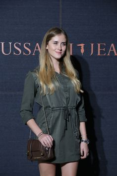 Valentina Ferragni in a TRUSSARDI JEANS look at the TRUSSARDI JEANS event for the launch of the new It Bag #TrussardiJeans #TJBag
