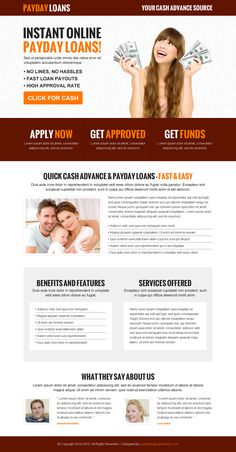 instant online payday loan call to action effective and converting landing page…