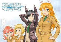 Strike Witches: Liberion Witches happy 4th girls