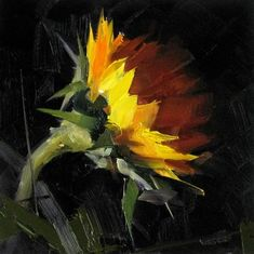 DPW Fine Art Friendly Auctions - Sunflower Study 2 by Qiang Huang