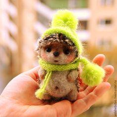 Needle felted baby Hedgehog.