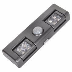 a7aace992 Lámpara Sensor Detector PIR Auto Movimiento Bombilla 5w Luz Led Infrarojo  Foco Armario Inalámbrico Alacena Escalera