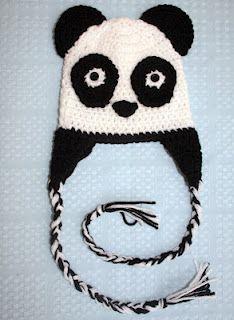 baby pandas, bear earflap, bears, bays, crochet hats