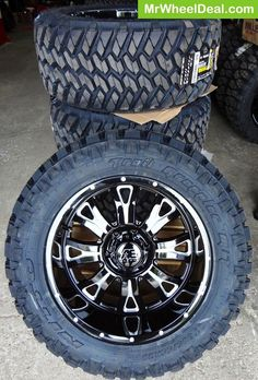 "20x10"" Eagle Alloy 511 wheels; and 305-55-20 Nitto Trail Grappler tires"