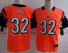 Nike Cincinnati Bengals #32 Jeremy Hill Orange Elite Jersey