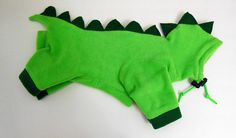 Dinosaur Costume Pajama for Small Dog Chihuahua by JinsK9Kreations, $35.00