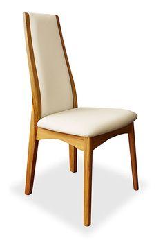 cool Upholstered Teak Dining Chair Zen White - Stylendesigns.com!