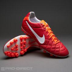 Nike Football Boots - Nike Tiempo Legend IV AG - Artificial Grass - Soccer Cleats - Sunburst-White-Total Crimson