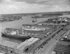 The history of Barangaroo has many rich threads woven from Sydney's maritime history, the first container port and the dark days of the Hungry Mile. Ss Normandie, Aboriginal History, Sydney City, Historical Images, Historical Architecture, Sydney Australia, Study Abroad, Family History, Paris Skyline