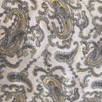 Vintage Linen Fabric - 5 yd - Neutral Paisley  - Miss Mustard Seed