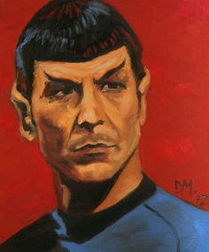 A drawing of Spock