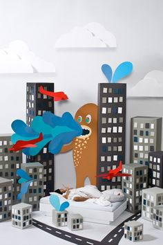 Love these paper city scenes #paper #art