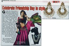 Sakhi's the Great Friendship SALE featured in Time of India, walk into Sakhi and experience it yourself, In addition to new collection also avail exciting offers at The Great Friendship event hosted by Sakhi until 18th August. Not stopping at that, you can treat your friends with a surprise gift from us  Click:http://www.sakhifashions.in/sale-1.html