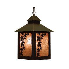 Lantern Pendant  Maple Leaf Light Fixture by CabinExclusive