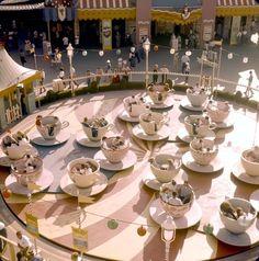 vintage teacup ride at Disneyland Disney Dream, Disney Love, Disney Magic, Disney Disney, Disney Stuff, Disney Princess, Disneyland California Adventure, Disneyland Park, Disney Parks