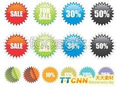 Discounts logo vector graphics