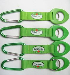 "Lanyard / Short strap with carabiner hook features polyester lanyard strap and screen printed logo. Hooked on you! This carabiner lanyard key chain will keep your keys and anything else that you can attach to it, safe from getting lost. Great giveaways for outdoor event! 1"" x 6"" Length with hook length. Available in variety of sizes and colors! http://leaguepromos.com/lanyards-c-22.html"