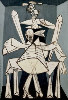 Mujer sentada en un sillón (Dora)' (1938), de Pablo Picasso.