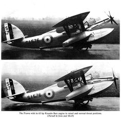 Parnall Prawn 02   Flickr - Photo Sharing! Shows raised and normal thrust positions for engine