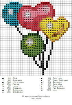 Balloon cross stitch pattern