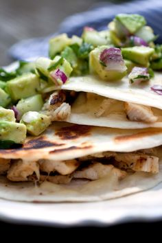 Chicken Quesadillas With Avocado-Cucumber Salsa Recipe - NYT Cooking