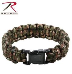 Rothco Multi-Colored Woodland Camo Paracord Bracelets
