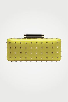 DVF | Tonda Studded Large clutch in citrine, #LoveIsHoliday