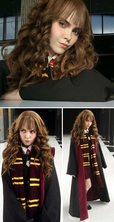Disney Character Cosplay Hermione Granger, Harry Potter - It seems that the incredibly talented cosplayer Alyson Tabbitha has finally met her match. Russian artist Ilona Bugaeva is turning herself into Cosplay Games, Cute Cosplay, Cosplay Dress, Amazing Cosplay, Cosplay Outfits, Best Cosplay, Emo Outfits, Cute Halloween Costumes, Halloween Cosplay