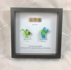 Items similar to Pixar style Monsters Inc Frame- Mike- Sully- best friends- gift for special sister- brothers- best man- usher on Etsy Friend Birthday Gifts, Best Friend Gifts, Gifts For Friends, Cute Gifts, Diy Gifts, Lego Frame, Mike And Sully, Baby Love Quotes, Christmas Gifts For Mom