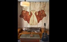 tapestry, fur and music...The Ace Hotel NY | romanandwilliams.com