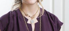 "18"" Augusta Necklace #vintagejewelry #vintagegold"