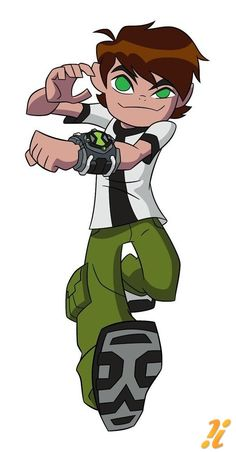 Ben 10 - Ben 10 never runs from an alien fight.  http://gottoon-gamescribe.blogspot.com