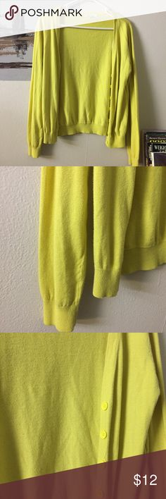 Forever 21 100% cotton yellow cardigan medium In great condition. Previously owned and loved. No flaws. Normal wears. Full sleeves. Size is medium. Ask if have any questions. Forever 21 Sweaters Cardigans