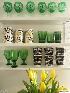 marimekko,keittiön pikkutavarat,mustavalkoinen,vihreä,paratiisi