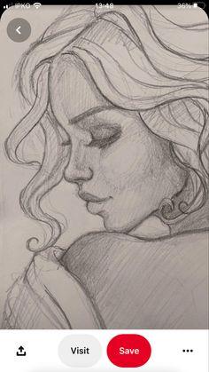 Girl Drawing Sketches, Girly Drawings, Dark Art Drawings, Art Drawings Sketches Simple, Pencil Art Drawings, Realistic Drawings, Sketch 4, Drawing Art, Cool Simple Drawings