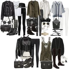 Inspired for a trip to London in spring by nikka-phillips on Polyvore featuring Yves Saint Laurent, Volcom, Madewell, Acne Studios, Proenza Schouler, rag & bone/JEAN, BLK DNM, La Perla, Bodas and Stuart Weitzman