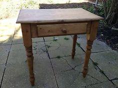 table? Pine Desk, Home Salon, Salon Ideas, Dressing Table, Furniture, Ebay, Home Decor, In Home Salon, Living Room Ideas