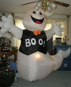 giant 8 ft big fun halloween boo ghost air blown inflatable yard decoration - Blow Up Halloween Decorations